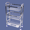 Stainless Steel 3 Layer Kitchen Trolley