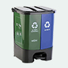 Nayasa 2 in 1 Dustbin Wet and Dry Waste 33Ltr